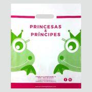 Bolsas de plástico de asa troquelada para Princesas & Príncipes