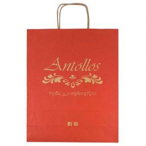 Bolsas de papel para tienda de complementos