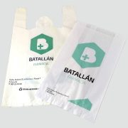 Bolsas de plástico reciclado para farmacia.