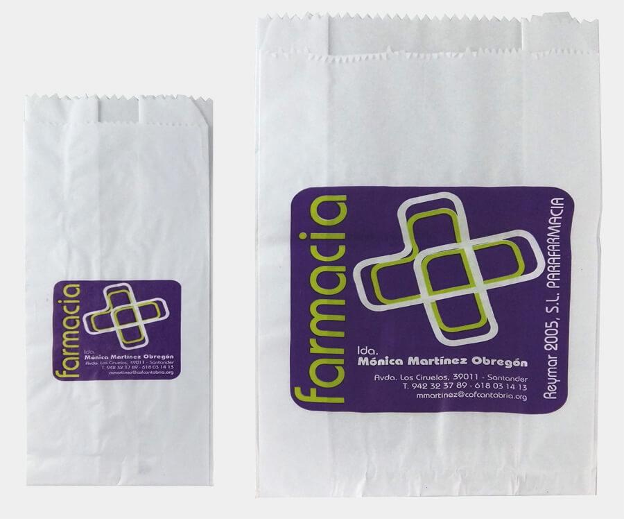 Sobres de papel para farmacia de Cantabria