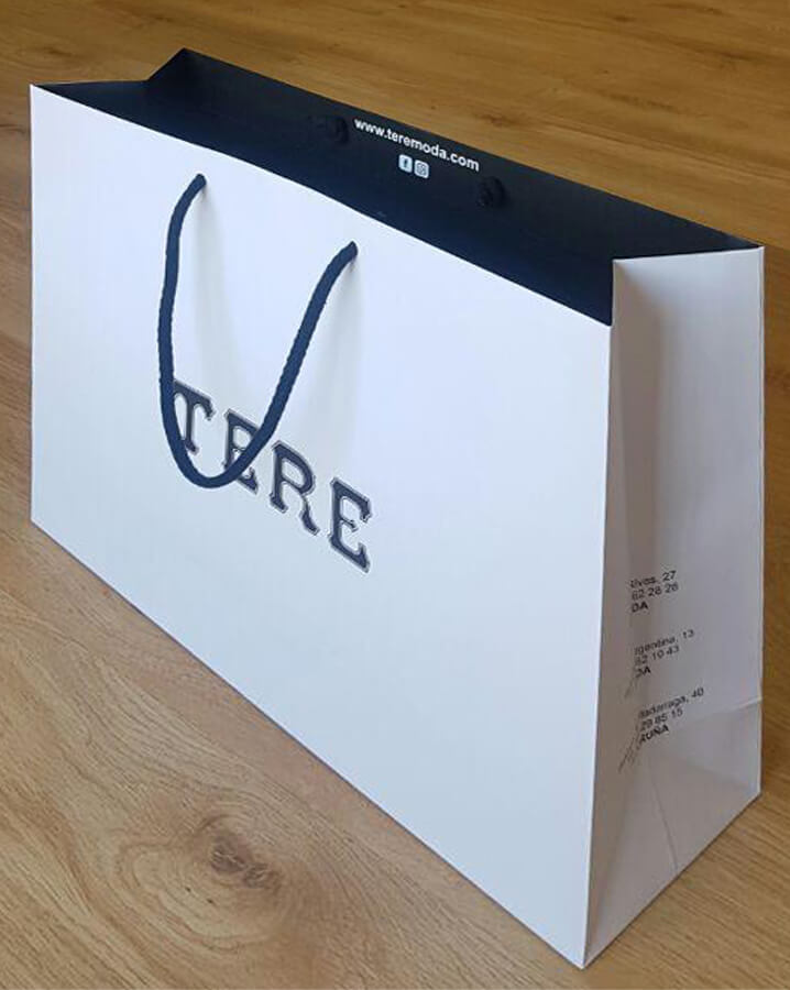 Bolsas de papel de lujo para tiendas de moda a coruña