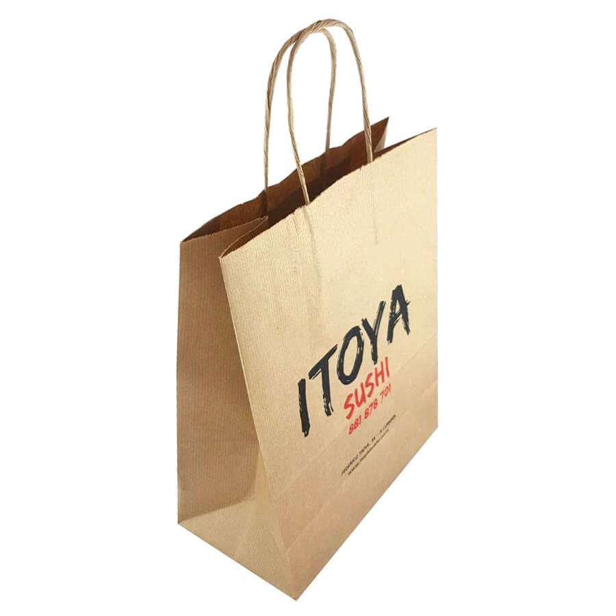 Bolsas de papel para restaurante de A Coruña.