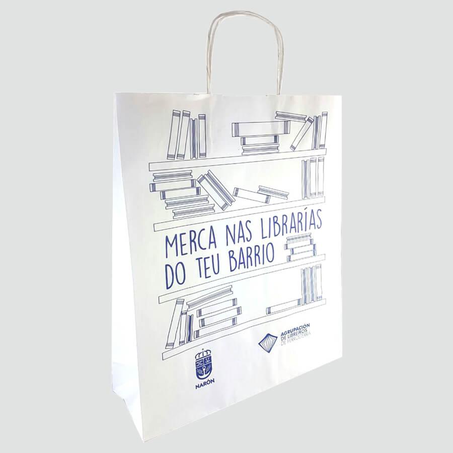 Bolsas de papel para asociación de libreros de Ferrolterra