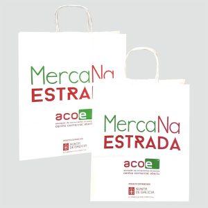 Bolsas de papel para Asociacion de comerciantes de A Estrada