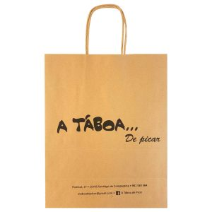 Bolsas de papel para restaurante de Santiago de Compostela